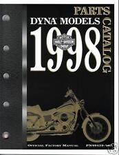HARLEY Teilebuch 1998 Dyna FXDL FXDWG FXD FXDS-CON OVP Buch NEU Katalog OEM