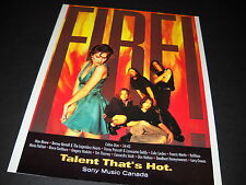 Celine Dion others are on Fire Talent That's Hot vintage Promo Poster Ad mint