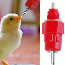 10x Screw In Poultry Water Drinking Nipple Bird Chicken Fowl Liquid Feeding Tool