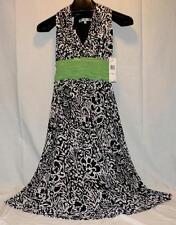 Evan Picone NWT Cute Black & White Sleeveless Dress, Size 6 Free Shipping!