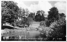 POSTCARD  DORSET    STURMINSTER  NEWTON  River  Stour  and  Church       RP