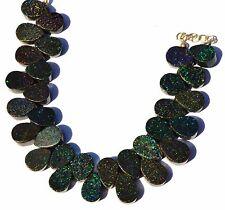 "Natural Australian Matrix Opal Multi Pin Fire 11x8MM Pear Shape Bead Bracelet 7"""