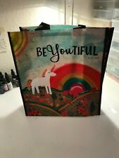 "Natural Life recycled plastic bag.14""x12.5  UNICORN Gift Tote Bag BeYOUtiful"