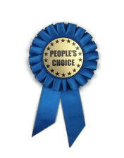 Rosette Ribbon, People's Choice- Award- 6 Inch- Blue- Honor- Identity- Celebrate