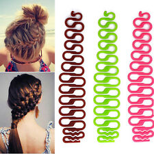 2pcs Women Hair Styling Clip Stick Bun Maker Braid Tool Hair Accessories Hot