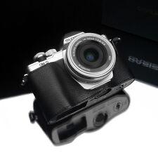 GARIZ Leather Case for Olympus EM10II E-M10 II XS-CHEM10IIBK Black