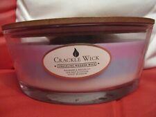 CRACKLE WICK CANDLE 485g 3 layer Rhubarb & Waterliy, Sea salt, Violet Blossom