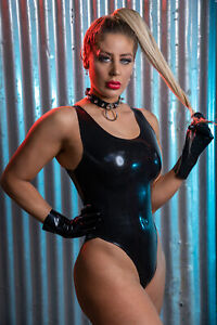 Rika Latex Rubber Leotard / Bodysuit  ( Made from Moulded Latex )
