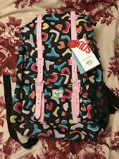 Herschel Fiesta / Pink Lady Backpack - Black & Pink 80s Abstract Print