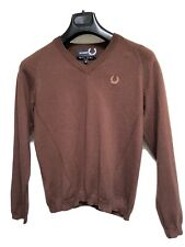 Raf Simin Fred Perry Knitwear Brown Size S