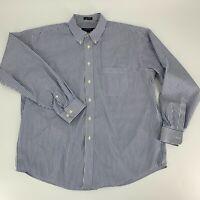 Joseph & Feiss Mens Long Sleeve Button Down Shirt Size XL Non Iron Blue Stripe