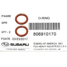 OEM 85-18 Subaru Engine Oil Dipstick Tube Seal SET (x2) Impreza Legacy 806910170