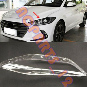 For Hyundai Elantra 2017-2018 Replace Left Side Clear Headlight Cover PC+Glue