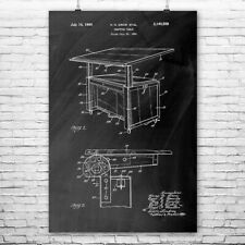 Architect Drafting Table Poster Print Structural Engineer Architect Gift