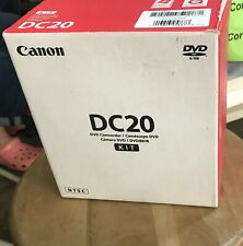 New ListingCanon Dvd Camcorder Ntsc Dc20 Video Camera Transfer Recorder w/ Box