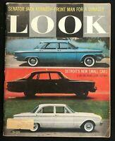 LOOK MAGAZINE - Oct 13 1959 - JFK JOHN F KENNEDY / New Cars in 1960