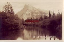 BYRON HARMON PHOTO ALONG THE LINE OF THE CANADIAN PACIFIC MT RUNDLE BANFF ALB CA