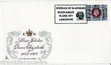 1977 GIUBILEO 9p-MERCURIO-Borough di Blackburn SILVER JUBILEE H/S