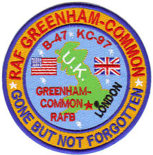 USAF BASE PATCH, GREENHAM-COMMON RAFB, B-47 , KC-97, GONE BUT NOT FORGOTTEN,