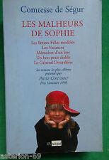COMTESSE DE SEGUR LES MALHEURS DE SOPHIE ET 5 AUTRES ROMANS