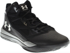 Under Armour UA Jet Mid Mens Size 11 Basketball Shoes Black/Steel 1269280 001