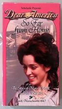 scholastic presents dear america SO FAR FROM HOME  VHS VIDEOTAPE