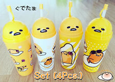 GUDETAMA Plastic Tumbler and Straw ( Set 1x4 ) / 7-Eleven Shop in Thailand only.