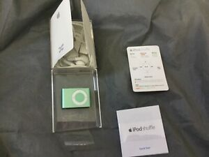 New Apple iPod Shuffle 2nd Generation 1GB Green Mint ONLY OUT OF BOX FOR PICTURE