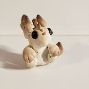 Small Clay Polymer Resin Dragon, Biege and Brown, handmade