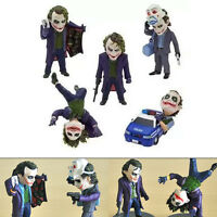 5pcs Lot DC Joker in Batman The Dark Knight Figure Set Figurine No Box