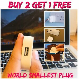 genuine Official Iishine iphone plug charger uk 3 Pin Charger Plug Foldable Tiny