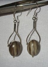 925 Sterling Silber Ohrringe Kaffee Jaspis