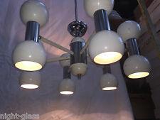 ANCIEN LUSTRE DESIGN 70 EN MÉTAL PEINT/12 LAMPES/VINTAGE CHANDELIER 70/N°T25