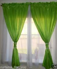READY MADE AMAZING CURTAINS VOILE TAFFETA SEWN TOGETHER