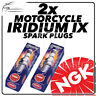 2x NGK Iridium IX Spark Plugs for MOTO GUZZI 1100cc Breva V 1100 14mm 05-> #6637