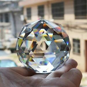 Clear Cut Crystal Suncatcher Ball Glass Sphere Faceted Gazing Ball Crystals