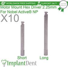 10 Motor Mount Hex Driver For Nobel Biocare, Active Hex NP, Dental Implant