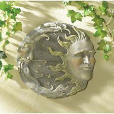 Celestial Sun Moon Stars Wall Plaque Indoor Outdoor Porch Yard Decor Decoration