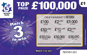 Fake Joke Scratchcards Scratch Cards tickets - Prank your Family!
