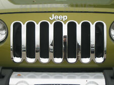 07-2017 Jeep Wrangler chrome Grille Grill insert chrome trim X, SAHARA, RUBICON