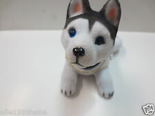 White with Gray Spot Siberian Husky Dog / Bobbing/ Bobble Head Doll/Toy