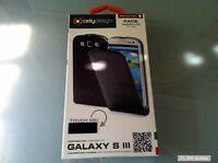 Celly Ledertasche Flipcase Face Schwarz Samsung I9300, Case, Hülle, S3, FACE232