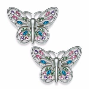 Cambria My Room Butterfly Finial Finials in Silver Set of 2 Drapery Rod Finials
