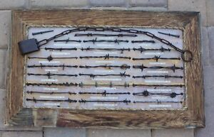 Antique Barbed Wire Display Art Collection 25 Pieces Cowboy Western Decor(367)