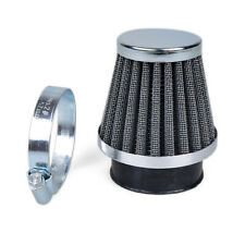 Motorcycle Chrome Cone Power Scooter Cone race Intake Air Filter 38-39-40MM NEW