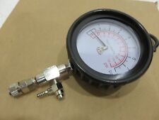 "Mityvac high pressure gauge 3-1/2"" rubber boot, 0-120 psi, 8Bar coupler release"