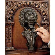 Lion Head Front Door Knocker Vintage Antique Cast Iron 18t Century Italian Style