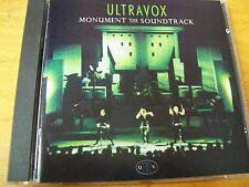 ULTRAVOX MONUMENT THE SOUNDTRACK CD EX+ UK