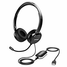 Mpow USB Headset / 3.5 MM Computer Headset with Microphone Noise Canceling, F/S