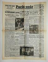 N686 La Une Du Journal Paris-soir 20 avril 1943 le président Laval